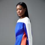 kolorowa z długim rękawem sukienka River Island - moda 2013/14