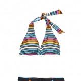 kolorowe bikini Moodo w paski - kolekcja letnia