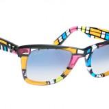 kolorowe okulary przeciwsłoneczne Ray Ban w asymetryczne wzory - kolekcja wiosenno/letnia