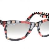 kolorowe okulary przeciwsłoneczne Ray Ban w kratkę