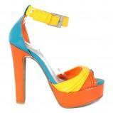 kolorowe sandały Fleq.pl lakierowane na słupku - wiosna/lato 2012
