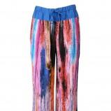kolorowe spodnie Stefanel w ciapki - z kolekcji wiosna-lato 2012