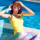 kolorowe spodnie we wzorki - Paulina Papierska  - kampania marki Chaos