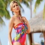 kolorowy jednoczęściowy strój kąpielowy Sunflair - lato 2013