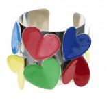 kolorowy pierścionek Glitter w serduszka - wiosna/lato 2012