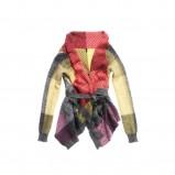 kolorowy sweter Benetton w kratkę - moda jesień/zima