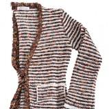 kolorowy sweter Farina Rosa w paski - sezon wiosenno-letni