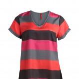 kolorowy t-shirt KappAhl w paski - trendy wiosna-lato