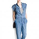 kombinezon Mango jeansowe - modny denim
