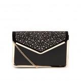 kopertówka New Look w kolorze czarnym na łańcuszku - małe torebki na imprezę