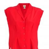 koralowa bluzka H&M z kołnierzem - lato 2012