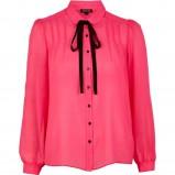 koralowa z długim rękawem koszula River Island - moda na wiosnę i lato 2013