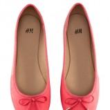 koralowe baleriny H&M - wiosenne buty