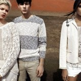 koronkowa bluzeczka Pull and Bear w kolorze białym - wiosna 2013