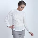 koronkowa bluzka StudioBaba w kolorze białym - jesień i zima 2012/13