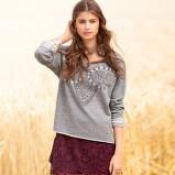 koronkowa spódnica H&M w kolorze bordowym - modne spódniczki