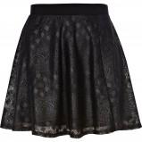 koronkowa spódnica River Island w kolorze czarnym - modne spódniczki 2012/13