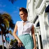 koronkowa spódniczka Mohito w kolorze turkusowym - kolekcja na wiosnę 2013