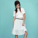 koronkowa spódniczka Topshop w kolorze białym - wiosna 2013