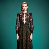 koronkowa sukienka Gucci w kolorze czarnym - trendy 2013/14