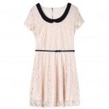 koronkowa sukienka Reserved w kolorze jasnoróżowym - moda 2013