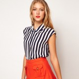 koszula Asos w pasy bez rękawów - moda na lato 2013