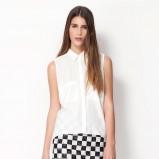 koszula Bershka w kolorze białym - trendy na wiosnę i lato 2013