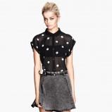 koszula H&M w groszki w kolorze czarnym - moda na jesień
