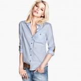 koszula H&M w kolorze błękitnym - moda 2013/14