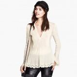 koszula H&M w kolorze ecru - jesień i zima 2013/14