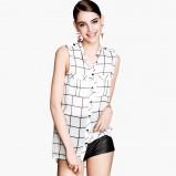 koszula H&M w kratę bez rękawów - lato 2013