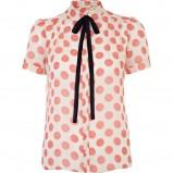 koszula River Island w kolorze ecru w koralowe groszki - moda na wiosnę i lato 2013