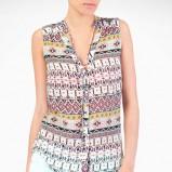 koszula Stradivarius w azteckie wzory bez rękawów - moda na lato 2013