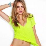 koszula Victorias Secret w kolorze żółtym - Cara Delevingne