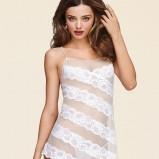 koszulka nocna Victorias Secret z koronką asymetryczna Miranda Kerr