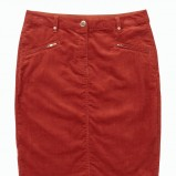 krótka spódnica F&F w kolorze ceglanym - moda na jesień i zimę