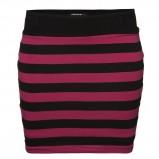 krótka spódnica New Yorker w paski w kolorze czarno - bordowym - spódniczki na jesień i zimę