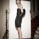 krótka sukienka Lanvin w kolorze czarnym - zima 2013