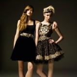 krótka sukienka River Island w kolorze czarnym - jesień 2012