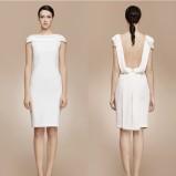 Krótka sukienka ślubna z odkrytymi plecami