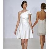 krótka suknia ślubna Amsale