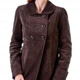 krótki płaszcz Grey Wolf w kolorze brązowym - kolekcja na jesień i zimę