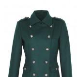 krótki płaszcz Top Secret z guzikami w kolorze ciemnozielonym