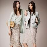 krótki płaszczyk Burberry w kolorze miętowym - elegancka odzież