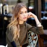 krótki sweterek Nasty Gal w kolorze khaki - lato 2013