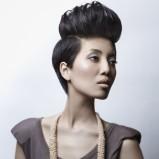 krótkie włosy - irokez