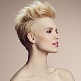 Krótkie włosy uniesione do góry - Camille Albane