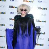 Lady Gaga - w długiej prześwitującej sukni
