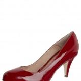 lakierki Pier One w kolorze czerwonym - obuwie damskie na imprezę