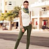 legginsy H&M w kolorze khaki - moda na wiosnę i lato 2013